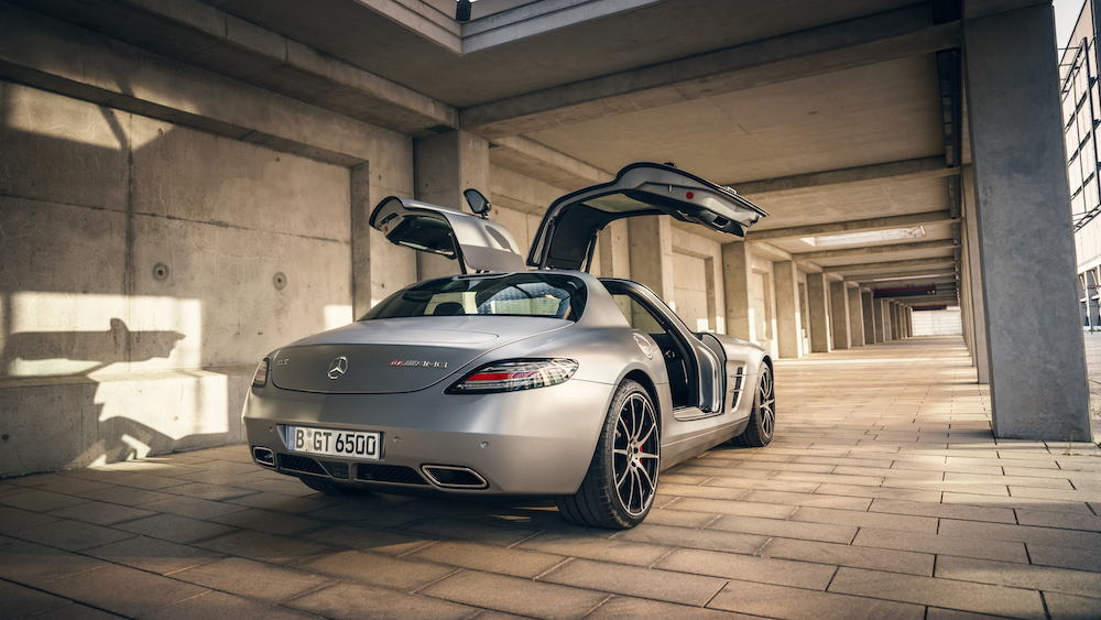 SLS AMG GT Rear View Gullwing